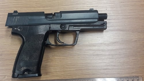The firearm was found after gardaí searched the man in the Brownstown area
