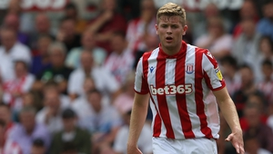 Nathan Collins captained Stoke Coity in their 1-0 win at Wigan Athletic