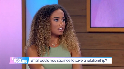 Amber Gill on Loose Women on Wednesday, August 14