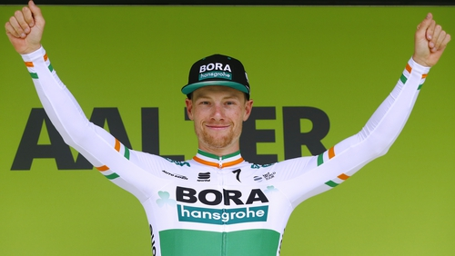 Sam Bennett has won the opening three stages at the BinckBank Tour