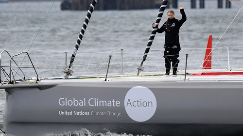 Greta Thunberg is making her way from Plymouth to New York on board the Malizia II