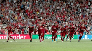 Liverpool celebrate their win following a penalty shootout