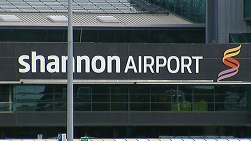 Shannon Airport said the nose-wheel of the aircraft collapsed on the airport runway