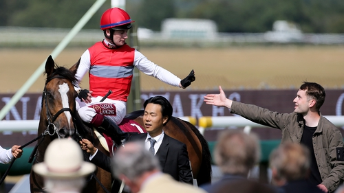 Oisin Murphy and Deirdre after their recent Goodwood victory