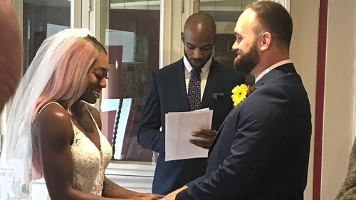 Priscilla Frederick and Ken Loomis tied the knot at a special ceremony in Macroom