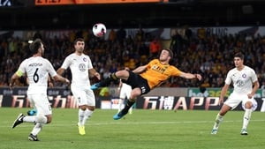 Diogo Jota scores a spectacular fourth for Wolves