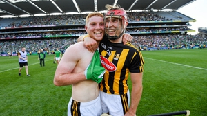 Cillian Buckley (R) and Adrian Mullen after Kilkenny's semi-final win