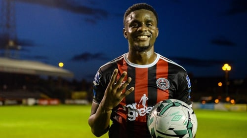 Wright scored four of Bohs' total