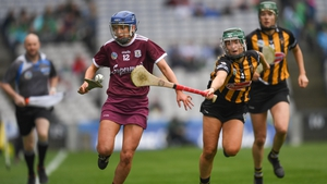 Galway and Kilkenny in action during the League final this year. The two sides will square off in the All-Ireland decider