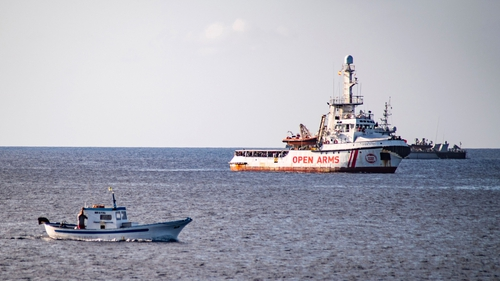 The Open Arms vessel is currently off the coast of Lampedusa