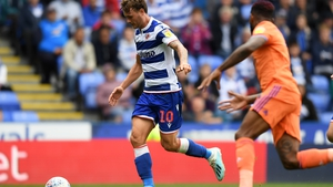 Reading's Isaac Vassell makes a break to score his side's third goal against Cardiff City