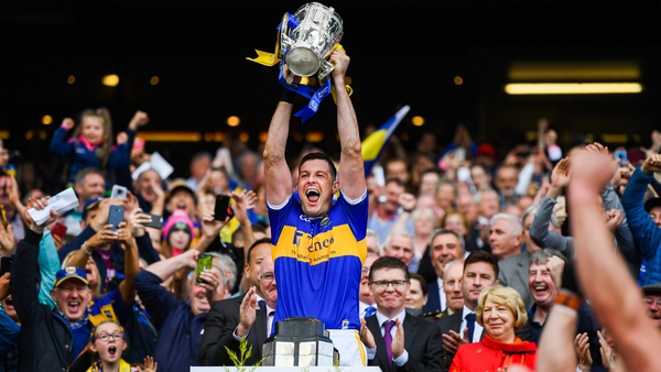 The winning All-Ireland captain Seamus Callanan
