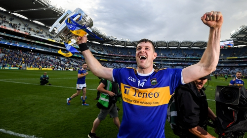 Tipperary captain Séamus Callanan celebrates with the Liam MacCarthy Cup