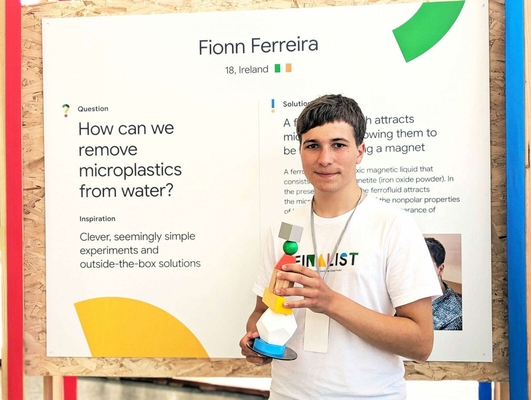 Fionn Ferrira - Google Science Award-winner