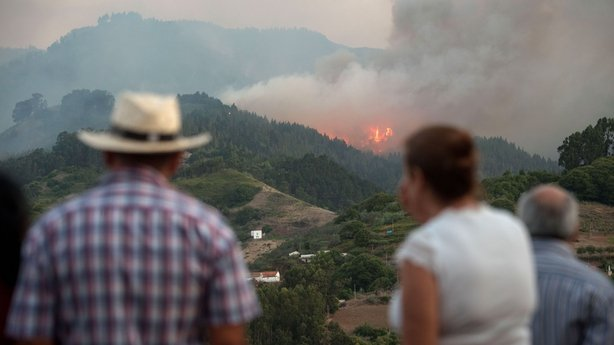 People Forced to Evacuate Over Wildfire in Spain's Canary Islands