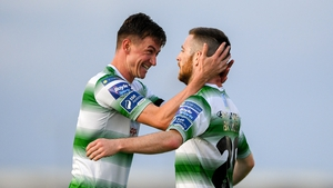 Jack Byrne scored two beautiful goals to set Shamrock Rovers on their way against Waterford