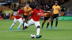 Paul Pogba missed from the penalty spot against Wolves