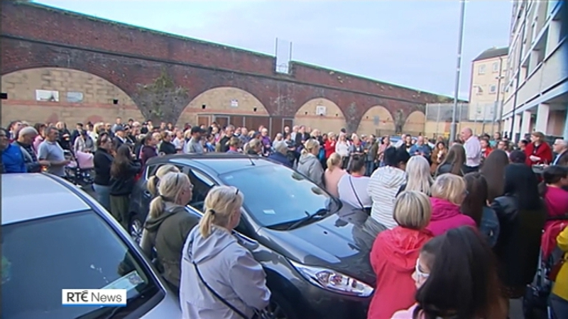 Ballybough         residents gather in support of Paddy Hansard