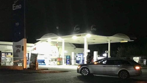 The man was shot dead at a petrol station in the village of Waringstown