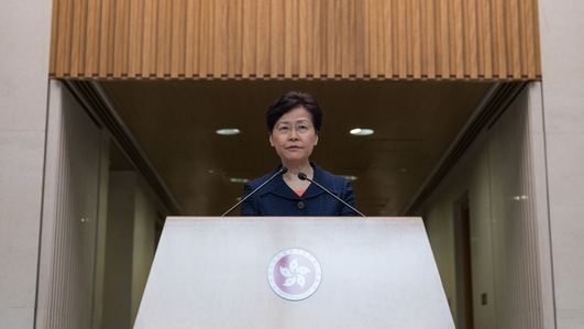 Hong Kong leader sees 'way out' of chaos through dialogue