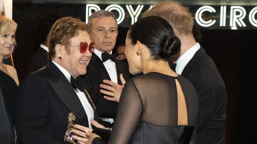 Elton John with Meghan and Harry