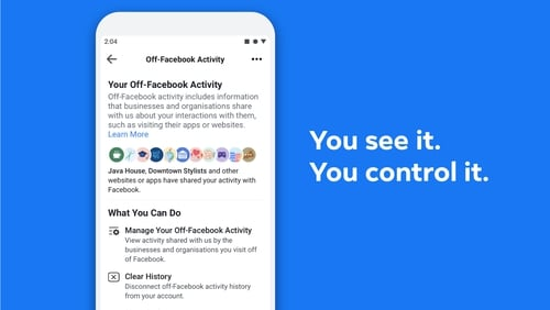 Facebook's new tool gives users control over third-party data gathering