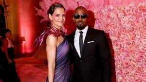 Katie Holmes and Jamie Foxx pictured at the Met Gala