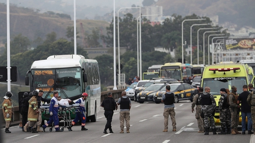 It is understood the gunman boarded the bus at 5.30am local time