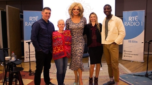 Panti Bliss (centre) and her parlour guests