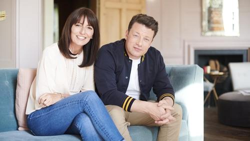 Davina McCall and Jamie Oliver