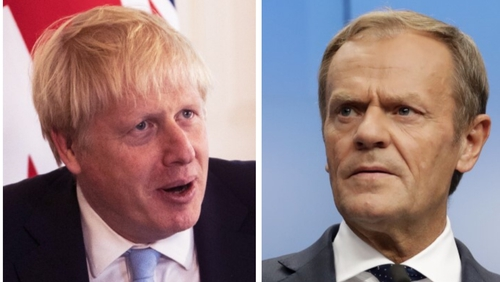 "Boris Johnson has described the backstop as anti-democratic, while Donald Tusk said he offered no ""realistic alternatives"""