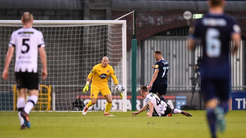 Dundalk were outlcassed by Slovan Bratislava in the Europa League