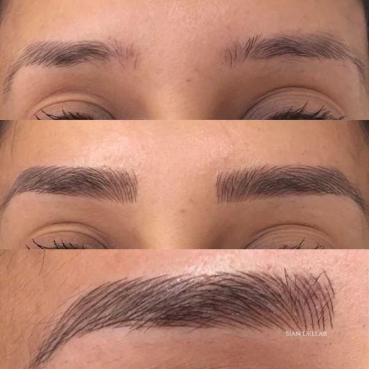 Hilary Lyons - eyebrow tattoos