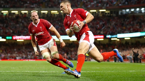 George North scored while England were temporarily down to 13 men