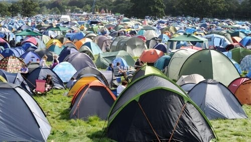 How many of these tents will be left behind by revellers in Stradbally next Monday morning?