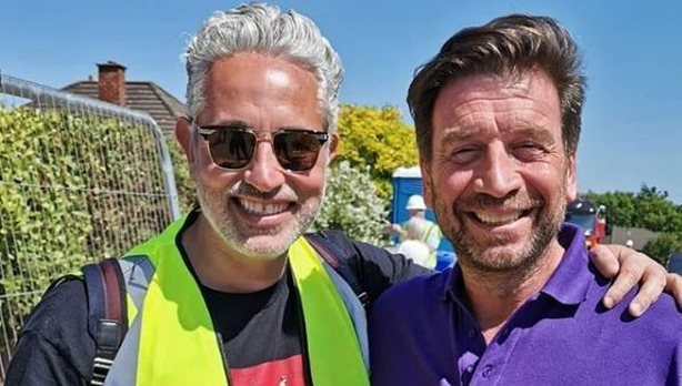 Baz Ashmawy and Nick Knowles