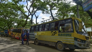 The vehicles departed empty after members of the Rohingya minority earmarked for return failed to show up