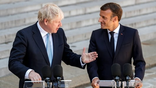 Backstop is not just 'legal quibbling', Macron tells Johnson in France