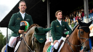 Cian O'Connor, left, and Darragh Kenny are part of the Irish team competing in Rotterdam