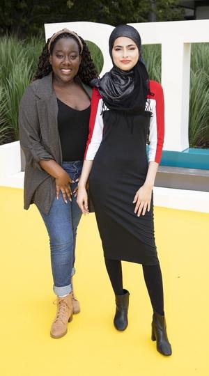 The Teenage Ambassadors, Minahil Sarfraz and Natasha Maimba.