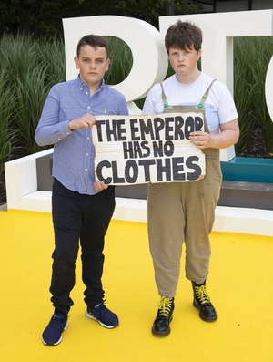 Youth Climate Activists James Dunne and Saoi O'Connor