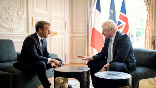 Boris Johnson and Emmanuel Macron met at the Élysée Palace