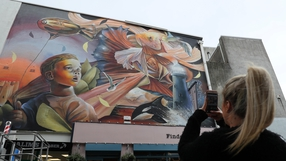 The fifth annual Waterford Walls International Street Art Festival is under way