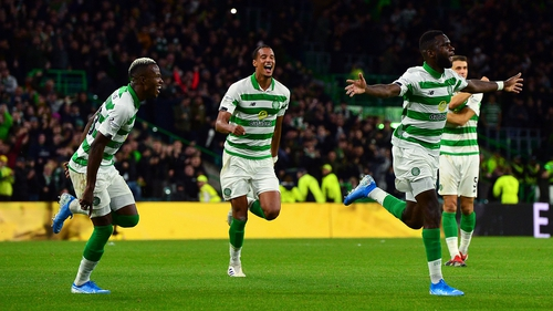 Odsonne Edouard celebrates Celtic's second of the night