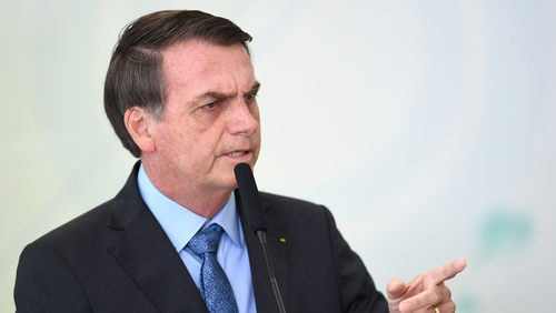"Mr Bolsonaro said earlier that sending in the army was the ""expectation"""