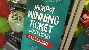 The winning ticket was sold at the the Spar Service Station on Monastery Road in Enniskerry, Co Wicklow