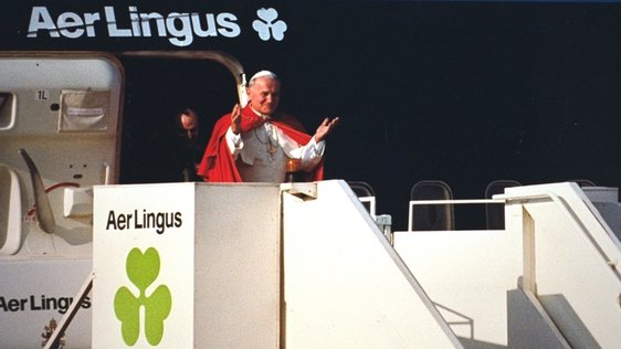 Pope John Paul II at Dublin Airport (1979)