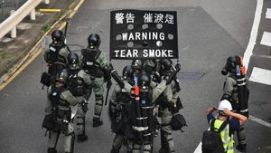 It was the first use of tear gas by Hong Kong police in about 10 days