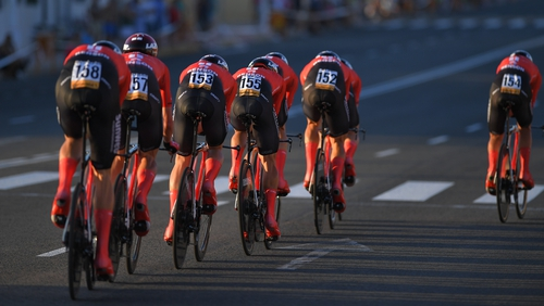 Team Sunweb finished third on the first stage of the Vuelta