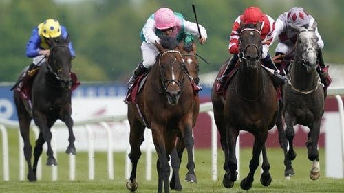 Headman (pink cap) is one of the leading challengers for the Irish Champion Stakes